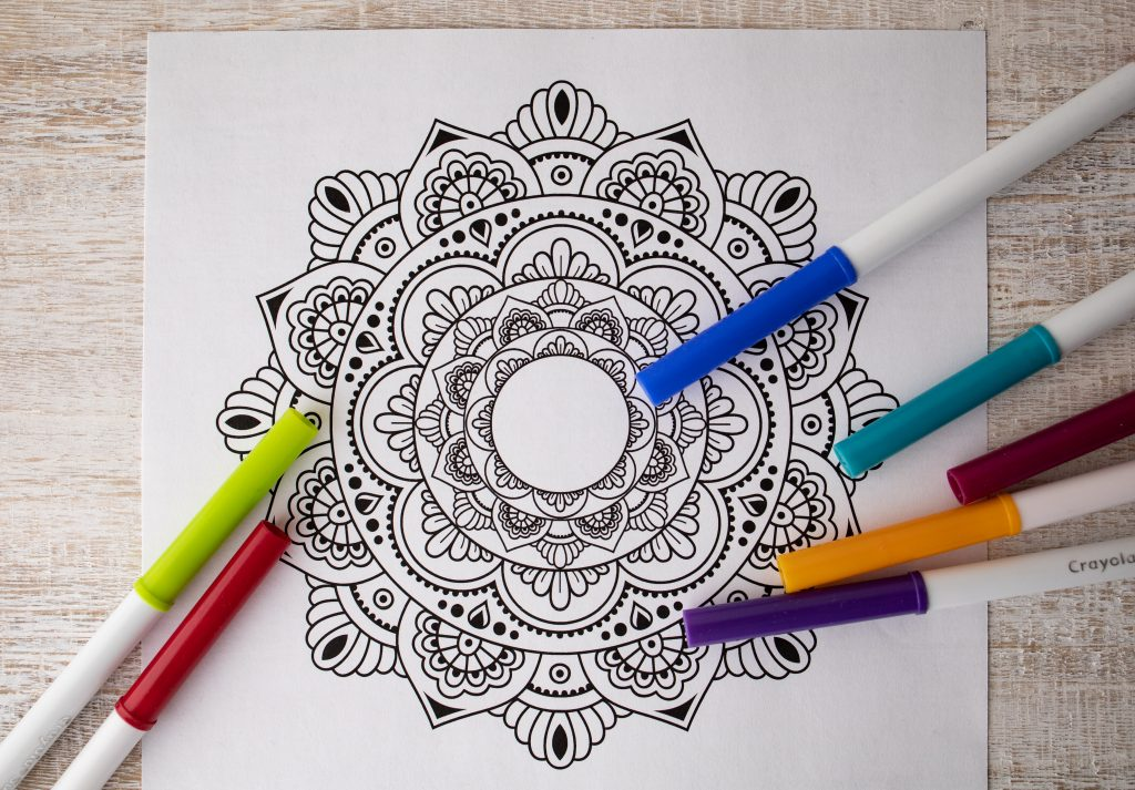 coloring pages mandala easy