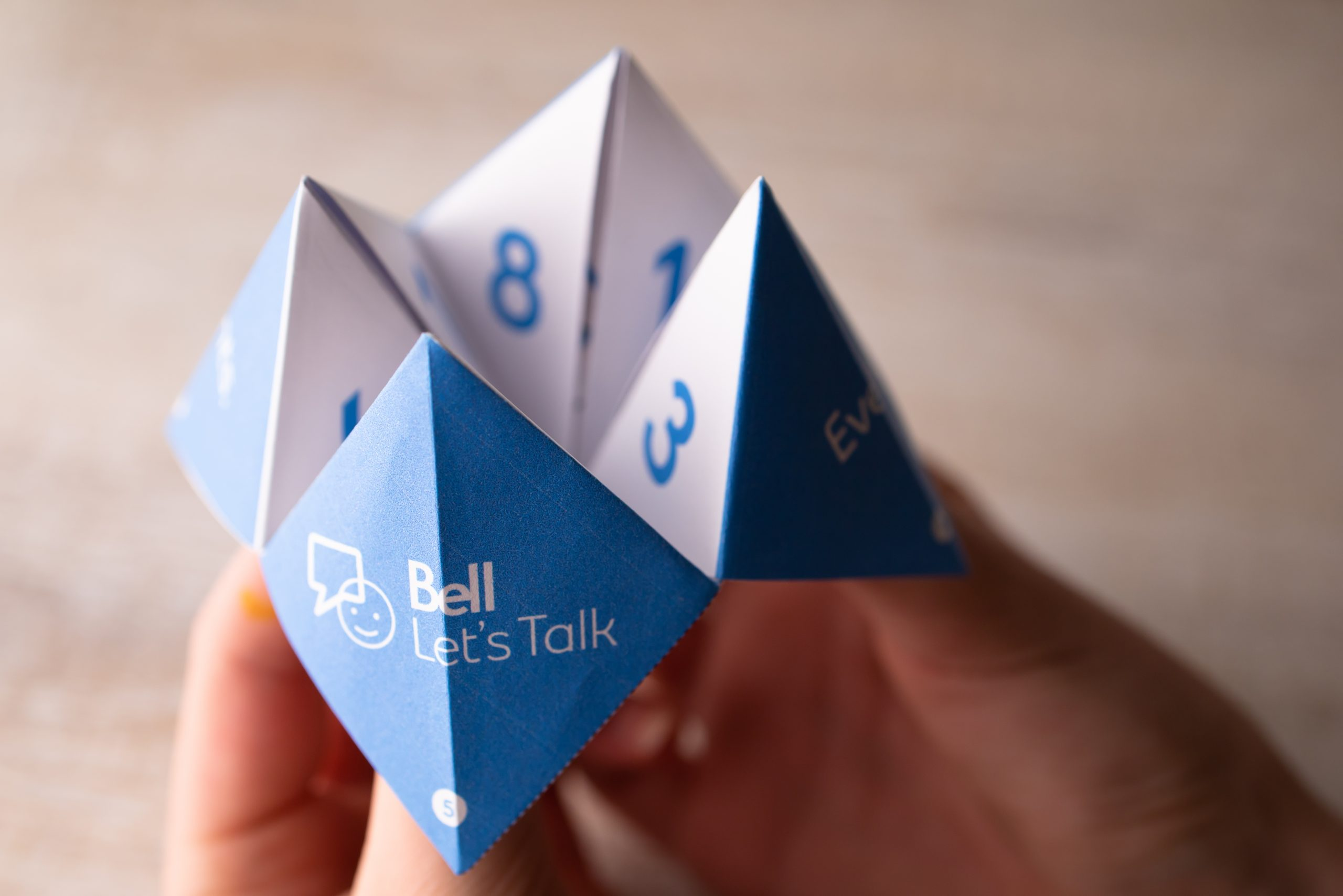 bell lets talk cootie catcher